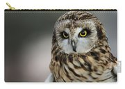 Short Eared Owl Portrait Carry-all Pouch