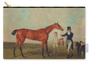 Shoveller Held By Her Trainer Will Chifney Carry-all Pouch by Benjamin Marshall