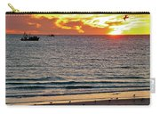 Shrimp Boats And Gulls Over Sea Of Cortez At Sunset From Playa Bonita Beach-mexico Carry-all Pouch