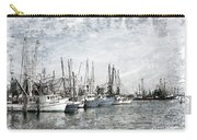 Shrimp Boats Sketch Photo Carry-all Pouch