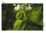 Shrub With White Blossoms Carry-all Pouch