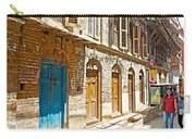 Shutters And Doors Along The Street In Bhaktapur-city Of Devotees-nepal  Carry-all Pouch