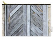 Weathered Wooden Shutters Carry-all Pouch