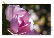 Shy Pink Rose Bud Carry-all Pouch