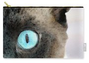Siamese Cat Art - Half The Story Carry-all Pouch