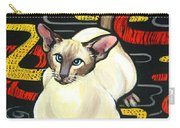 Siamese Cat On A Cushion Carry-all Pouch