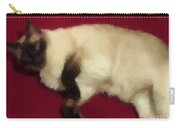 Siamese Expressive Brushstrokes Carry-all Pouch