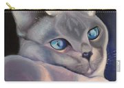 Siamese In Blue Carry-all Pouch