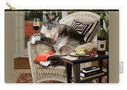 Funny Pet A Wine Bibbing Kitty  Carry-all Pouch