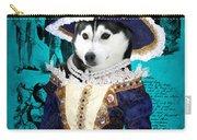 Siberian Husky Art Canvas Print - Baroness Carry-all Pouch