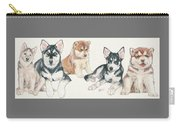 Siberian Husky Puppies Carry-all Pouch