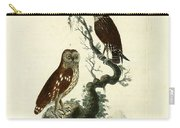 Siberian Owl And Acadian Owl Carry-all Pouch