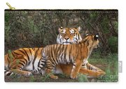 Siberian Tiger Cub Guarding Mom Wildlife Rescue Carry-all Pouch