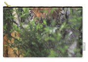 Siberian Tiger In Hiding Wildlife Rescue Carry-all Pouch