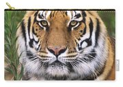 Siberian Tiger Staring Endangered Species Wildlife Rescue Carry-all Pouch