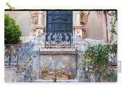 Sicilian Village Steps And Door Carry-all Pouch by David Smith