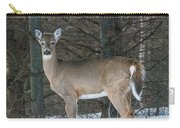 Side Of The Road Deer Carry-all Pouch