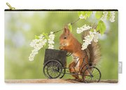 Side View Of Red Squirrel Playing Carry-all Pouch