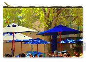 Sidewalk Cafe Blue Bistro Umbrellas Downtown Oasis Terrace Montreal City Scene Carole Spandau Carry-all Pouch
