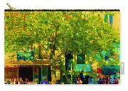 Sidewalk Cafe Rue St Denis Dappled Sunlight Shade Trees Joys Of Montreal City Scene  Carole Spandau Carry-all Pouch