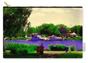 Sights Along The Harbor Late Day Stroll Lachine Canal Bike Path Montreal Scenes Carole Spandau Carry-all Pouch