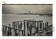 Siglufjordur Old Pier Black And White Carry-all Pouch