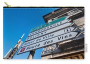 Sign For The Route Des Vins, Arbois Carry-all Pouch