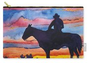 Silhouette Cowboy Carry-all Pouch