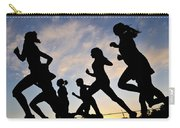 Silhouette Female Runners Carry-all Pouch