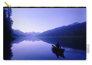 Silhouette Of A Canoeist At Sunrise Carry-all Pouch