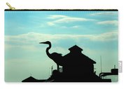 Silhouette Of A Heron Carry-all Pouch