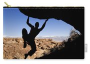 Silhouette Of A Rock Climber Carry-all Pouch