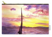 Silhouette Of Boat And Sailors On Torch Lake Michigan Usa Carry-all Pouch