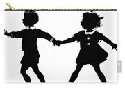 Silhouette Of Children Rollerskating Carry-all Pouch