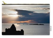 Silhouette Of Dunluce Castle Carry-all Pouch