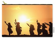 Silhouette Of Hula Dancers At Sunrise Carry-all Pouch