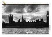 Silhouette Of  Palace Of Westminster And The Big Ben Carry-all Pouch by Semmick Photo