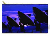 Silhouette Of Satellite Dishes Carry-all Pouch