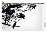Silhouette Of Singing Common Blackbird In A Tree Carry-all Pouch by Stephan Pietzko