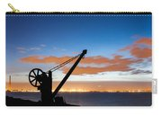 Silhouette Of The Davit In Dublin Port Carry-all Pouch