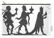 Silhouette Of Three Kings Carry-all Pouch