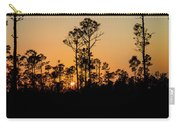 Silhouette Of Trees At Sunset Carry-all Pouch