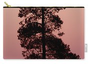 Silhouette Tree At Sunrise Carry-all Pouch