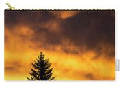 Silhouetted Evergreen Tree Carry-all Pouch