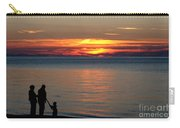 Silhouetted In Sunset At Sturgeon Point Marina Carry-all Pouch