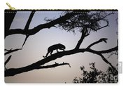 Silhouetted Leopard Carry-all Pouch