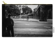 Silhouetted Man Leans Black And White Carry-all Pouch