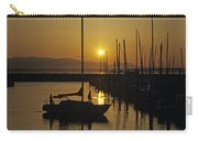Silhouetted Man On Sailboat Carry-all Pouch
