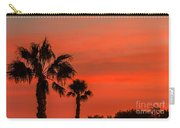 Silhouetted Palm Trees Carry-all Pouch