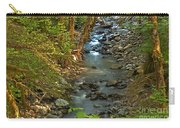 Silky Stream In Rain Forest Landscape Art Prints Carry-all Pouch